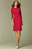 Строгое платье футляр цвета бордо