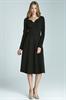 Черное платье с длинными рукавами Nife - фото 10935