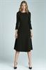 Черное платье Nife с рукавами 3/4 - фото 10943