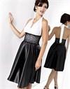 Женственное черно-белое платье - фото 47