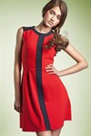 Повседневное платье с вертикальной полосой - фото 108