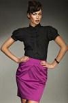 Современная блузка с рукавами фонариками - фото 280