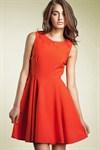 Повседневное платье А силуэта красное - фото 316