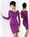 Платье с драпировкой, фиолетового цвета - фото 496
