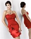 Красное платье с шикарной драпировкой - фото 503