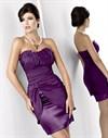 Красное платье с шикарной драпировкой - фото 505
