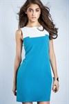 Платье-туника мини, белая - фото 559
