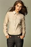 Рубашка с необычной раскладкой пуговиц - фото 633