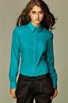 Рубашка с необычной раскладкой пуговиц - фото 635