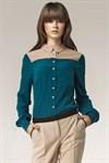 Стильная зеленая блуза - фото 2829