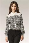 Стильная блуза с узором - фото 2833