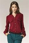 Изысканная блуза в горох - фото 2879