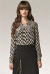 Изысканная бордовая блуза - фото 2884