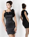 Черное эффектное платье - фото 2983