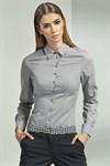Женственная серая рубашка - фото 3392